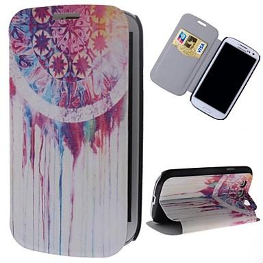 Dream Catcher patroon pu leer full body case met standaard en de kaartgleuf voor Samsung Galaxy S3 i9300