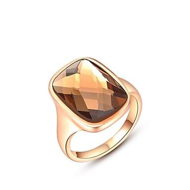Dames Statement Ring - Kristal, Verguld Modieus 6 / 7 / 8 Zilver / Gouden Voor Bruiloft / Feest / Dagelijks