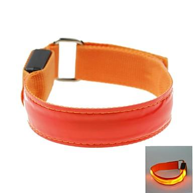 leidde lichte kleur rooster arm band riem armband rood (2xcr2032)