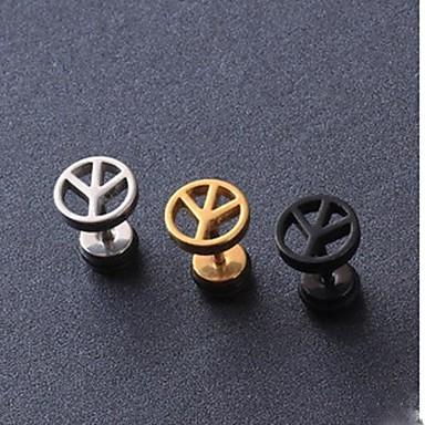 Kadın's Vidali Küpeler - Titanyum Çelik Moda Siyah / Gümüş / Altın Uyumluluk Yılbaşı Hediyeleri Düğün Parti