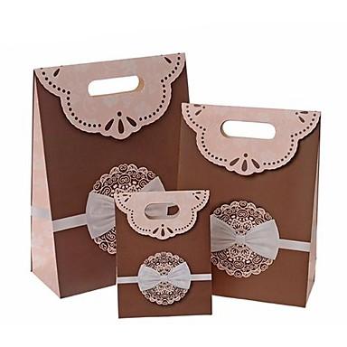 lureme mode strik patroon klittenbandsluiting gift bag (willekeurige kleur) (1 st)