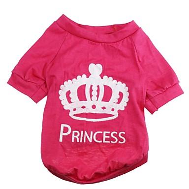 Gato Cachorro Camiseta Roupas para Cães Respirável Tiaras e Coroas Rosa Ocasiões Especiais Para animais de estimação