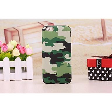 camouflage leer beklede TPU geval voor iphone 6 plus