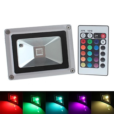 1st 10 W 800 lm 1 LED-pärlor Integrerad LED Vattentät / Fjärrstyrd / Dekorativ RGB 85-265 V