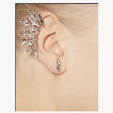 Feminino Brincos Curtos Personalizada Luxo Pedras preciosas sintéticas Imitações de Diamante Liga Jóias
