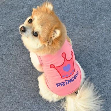 katten / honden T-shirt Roze Hondenkleding Zomer Tiara's & Kronen / Letter & Nummer Cosplay