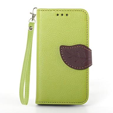Pouzdro Uyumluluk Samsung Galaxy Samsung Galaxy Kılıf Kart Tutucu Cüzdan Satandlı Flip Tam Kaplama Kılıf Tek Renk PU Deri için S3 Mini