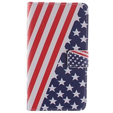Για Samsung Galaxy Note Πορτοφόλι / Θήκη καρτών / με βάση στήριξης / Ανοιγόμενη / Με σχέδια tok Πλήρης κάλυψη tok Σημαία Συνθετικό δέρμα