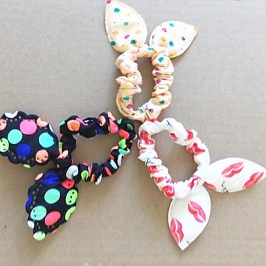 lábios Moda Dot florais Super Elastic orelhas de coelho (cor aleatória)