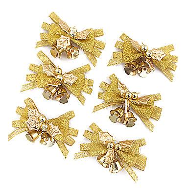 6pcs nochi 4 * 7 centímetros de pano de ouro natal ring-down decorações de natal