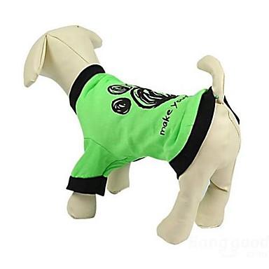 Katzen / Hunde T-shirt Grün Hundekleidung Sommer Karton Hochzeit / Cosplay