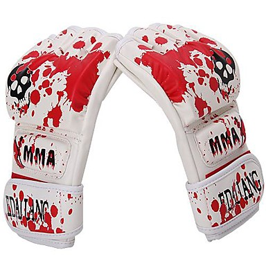 Trainingsbokshandschoenen Worstel MMA-handschoenen Stoothandschoenen Bokshandschoenen voor Vechtsport VingerloosAdemend Slijtvast