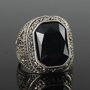 Erkek Bildiri Yüzüğü - Vintage, Moda 7 / 8 / 9 / 10 Siyah / Kırmzı Uyumluluk Yılbaşı Hediyeleri Parti Günlük