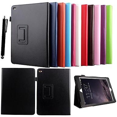 Pouzdro Uyumluluk iPad Air 2 Satandlı Tam Kaplama Kılıf Tek Renk PU Deri için iPad Air 2
