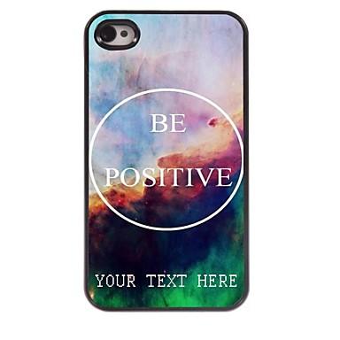 caso de telefone personalizado - ser caso design de metal positivo para iPhone 4 / 4S