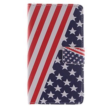 tok Για LG Θήκη LG Θήκη καρτών Πορτοφόλι με βάση στήριξης Ανοιγόμενη Πλήρης κάλυψη Σημαία Σκληρή PU Δέρμα για LG G3