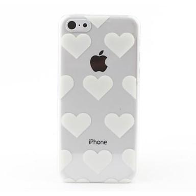 διαφανές λευκό καρδιές ύφος σκληρό πίσω περίπτωση για το iphone 5γ