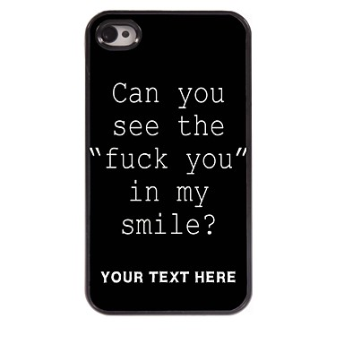 personalizado caso de telefone - fuck caso o projeto de letra de metal para iPhone 4 / 4S