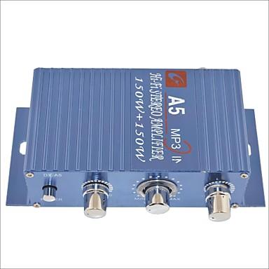 α5 150w στερεοφωνικό ενισχυτή hi-fi για το αυτοκίνητο / μοτοσικλέτα-μπλε