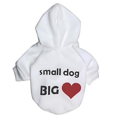 Kat Hond Hoodies Hondenkleding Harten Wit Kostuum Voor huisdieren