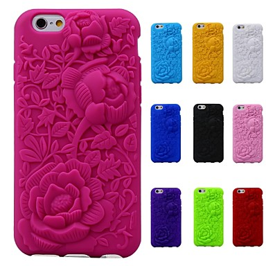 3d роза рисунок кремния резиновый мягкий чехол для Iphone / 6 6s (разных цветов)