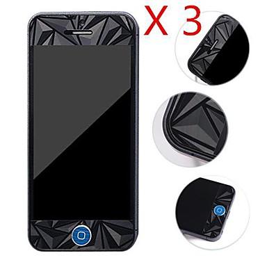 Diamante frente 3d + protetor de tela Voltar para o iPhone 5 / 5s (3 peças)