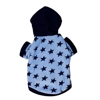 Katze Hund Kapuzenshirts Hundekleidung Sterne Blau Terylen Kostüm Für Haustiere
