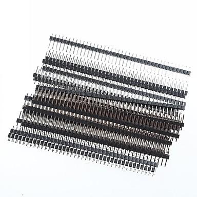 1 x 40-Pin 2,54 mm einreihig rechtwinklig Leiterplattenstiftleisten (20pcs)