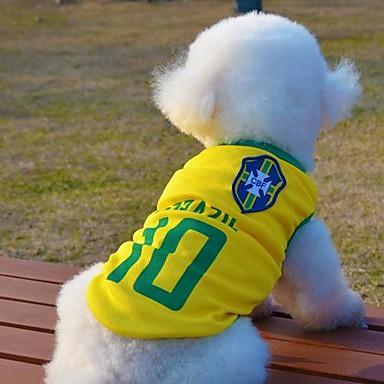 Katze / Hund T-shirt / Trikot Hundekleidung Gelb Baumwolle Kostüm Für Haustiere Sommer Cosplay / Hochzeit