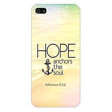 Για Θήκη iPhone 5 Θήκες Καλύμματα Με σχέδια Πίσω Κάλυμμα tok Άγκυρα Σκληρή PC για iPhone SE/5s iPhone 5