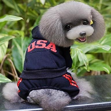Katze / Hund Mäntel / Kapuzenshirts Hundekleidung Buchstabe & Nummer Grau / Rose / Rot Baumwolle Kostüm Für Haustiere Cosplay / Hochzeit