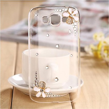 LUXURY Diamonds Crystal Flowers Back Cover Case for SAMSUNG Galaxy win I8552 I8550 I8558