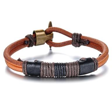 Heren Lederen armbanden Leder Koper Sieraden Kerstcadeaus Bruiloft Feest Dagelijks Causaal Sport