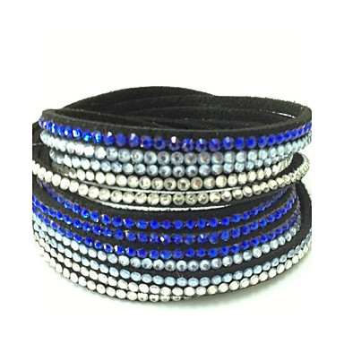 Misturar cores pulseira artesanal de veludo pulseira de couro envoltório que bling strass broca quente pulseira