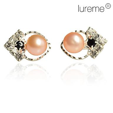 Women's Stud Earrings Love Heart Pearl Imitation Pearl Pink Pearl Heart Jewelry Daily