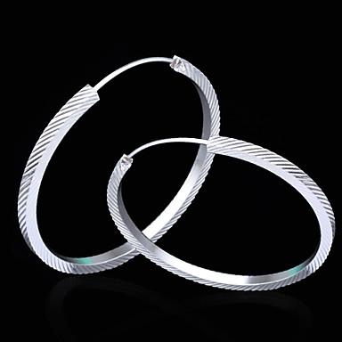 Κουμπωτά Σκουλαρίκια Κοσμήματα Γυναικεία 2pcs Ασημί
