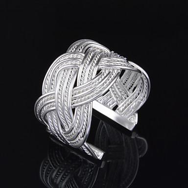 Anéis Casamento / Pesta / Diário / Casual Jóias Prata Chapeada Feminino Anéis Meio Dedo 1pç,Ajustável