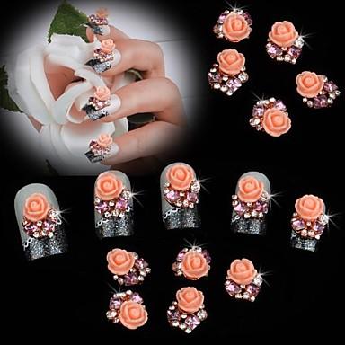 10 Κοσμήματα νυχιών Λουλούδι Κλασσικό Γάμος Καθημερινά Λουλούδι Κλασσικό Γάμος Υψηλή ποιότητα