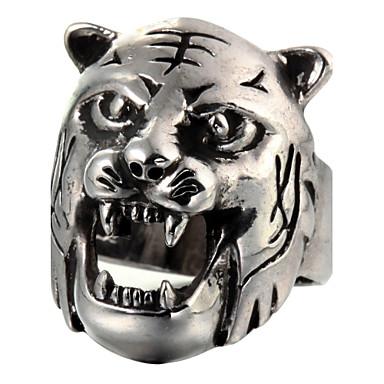 Kadın's Bildiri Yüzüğü - Titanyum Çelik Moda 8 Gümüş Uyumluluk Günlük