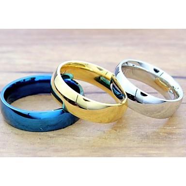 Damen Statement-Ring - Titanstahl Modisch 5 / 6 / 7 / 8 / 9 Silber / Blau / Golden Für Hochzeit Party Alltag