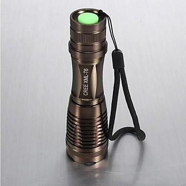 LS021 Lanternas LED LED 1800 lm 5 Modo Cree XM-L T6 Zoomable Foco Ajustável Resistente ao Impacto Superfície Antiderrapante Recarregável