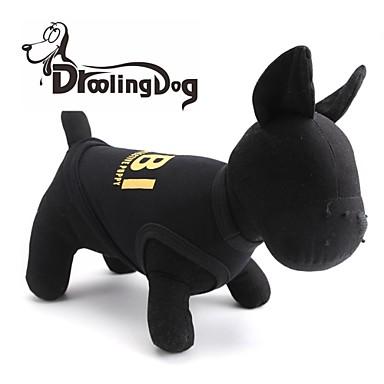 droolingdog® kühlen fbi Muster aus 100% Baumwolle Weste für Haustiere Hunde (gelb / schwarz verschiedenen Größen)