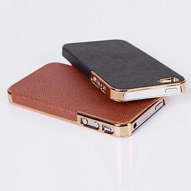 couro de grão cruz caso tampa traseira para iPhone 4 / 4S (cores sortidas)