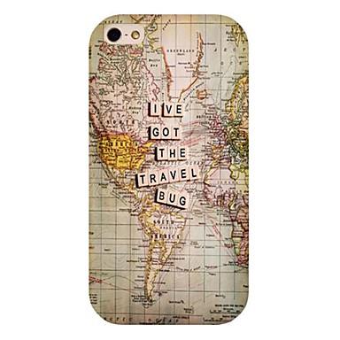 matkailu kartta kuvio takaisin suojakotelo iPhone 4 / 4s