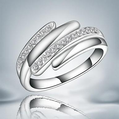Anéis Casamento / Pesta / Diário Jóias Liga Feminino Anéis Statement7 / 8 Prateado
