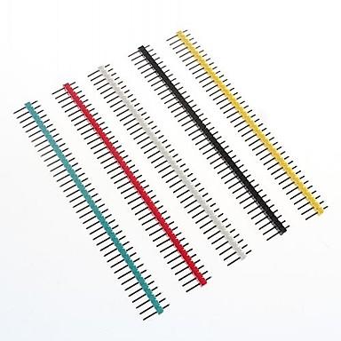çok renkli 40-pin 2.54mm Saha pin başlıkları (10 adet)