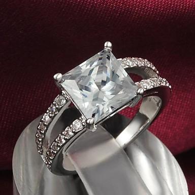 Pentru femei Inel de declarație 18K Aur Aliaj Nuntă Petrecere Zilnic Costum de bijuterii