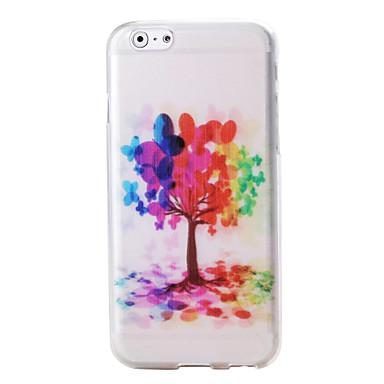 árvores coloridas e padrão de balão em TPU macio para iphone 6