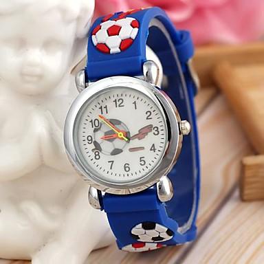 Children's Sports Style Football Silicone Strap Quartz Wrist Watch Blue (1Pc) Cool Watches Unique Watches Fashion Watch