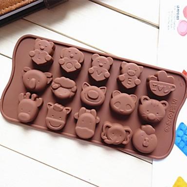 Animal Torta Cupcake Bolo Silicone Amiga-do-Ambiente Faça Você Mesmo Anti-Aderente Molde